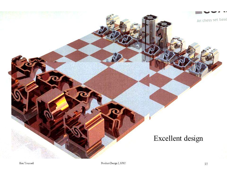 Ken YoussefiProduct Design I, SJSU 15 Excellent design