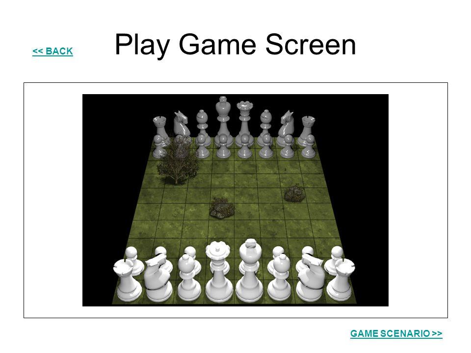 Play Game Screen << BACK GAME SCENARIO >>
