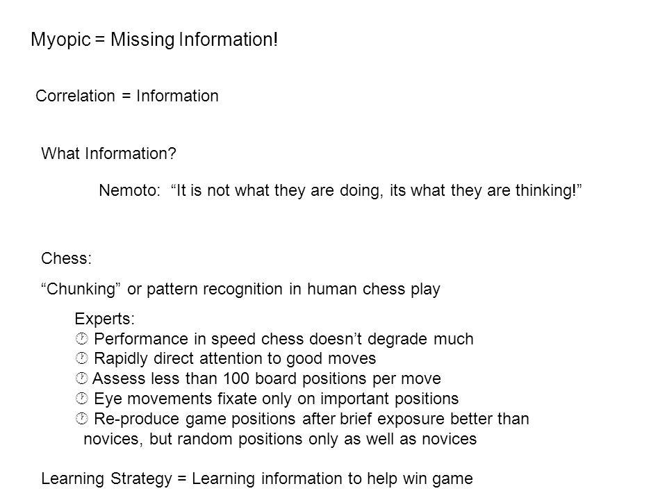 Myopic = Missing Information.
