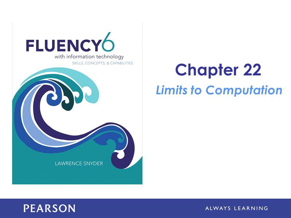 Chapter 22 Limits to Computation