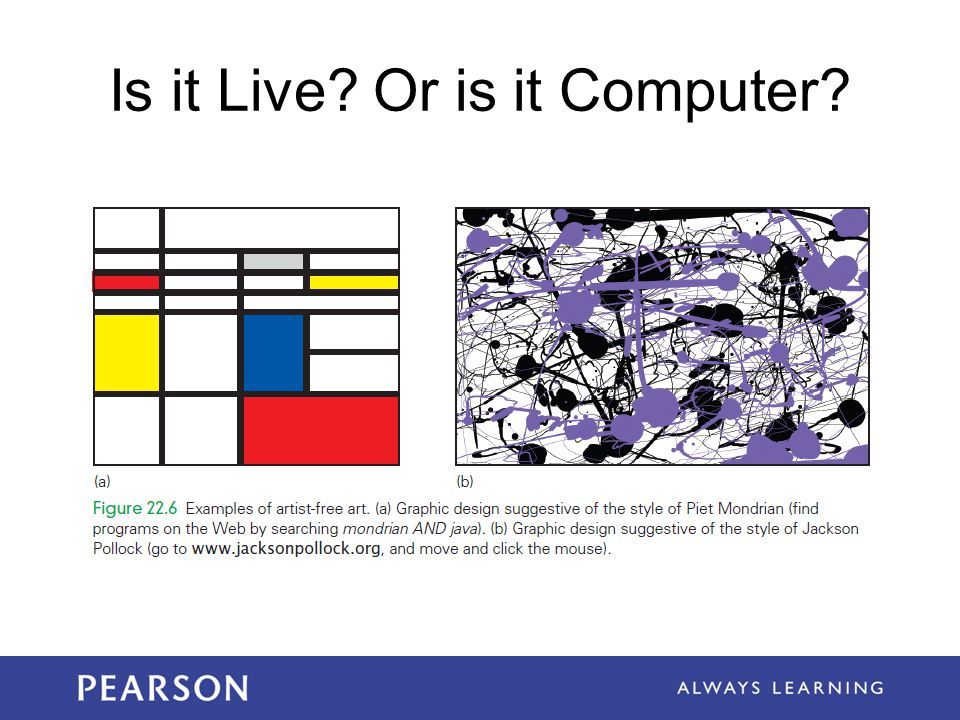 Is it Live? Or is it Computer?