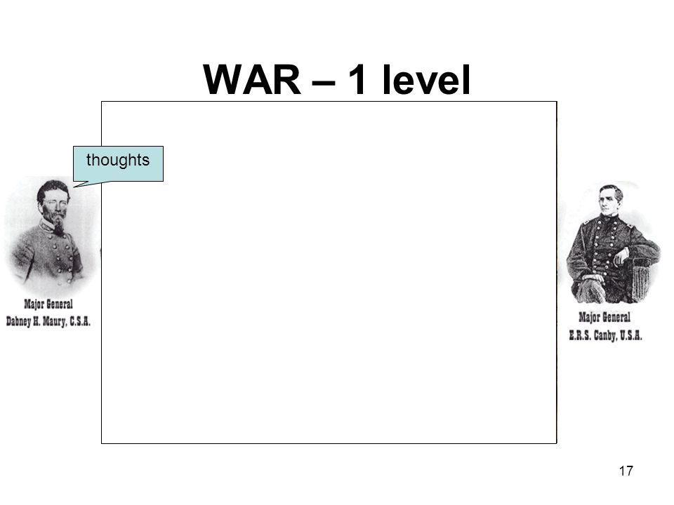 WAR – 1 level thoughts 17