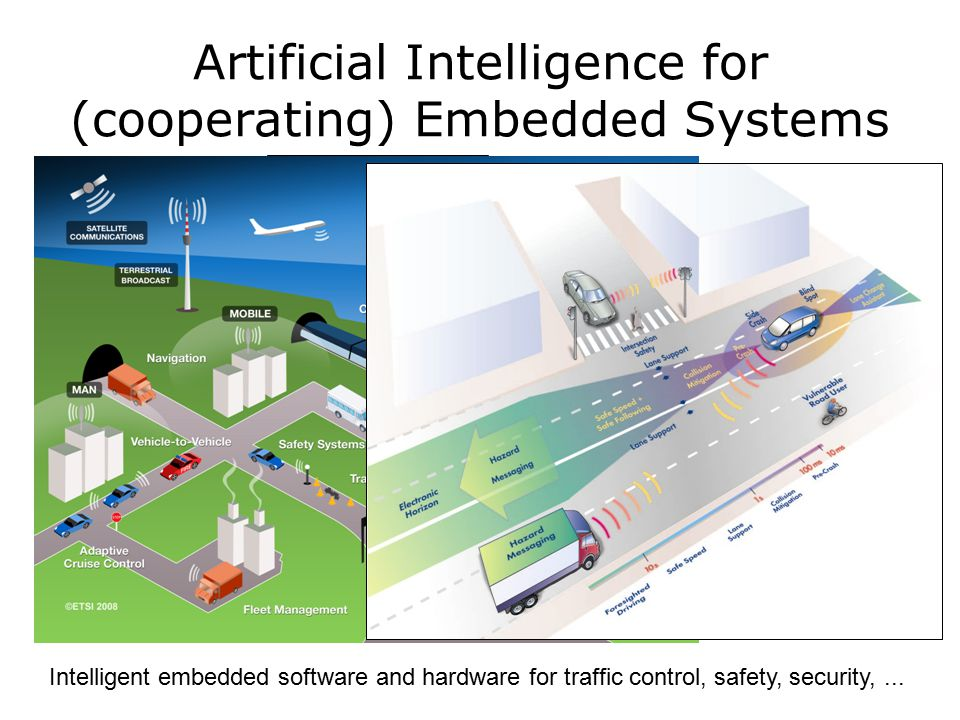 Embedded intelligent systems for control of unmanned aerial vehicles Artificial Intelligence for (cooperating) Embedded Systems University of Michigan and US Army The Com-Bat: scavenge for power, stereoscopic cameras, microphones, detect radiation and airborne poisons.