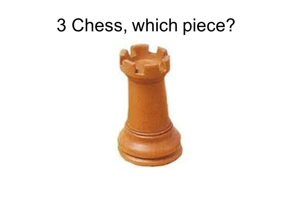 3 Chess, which piece?