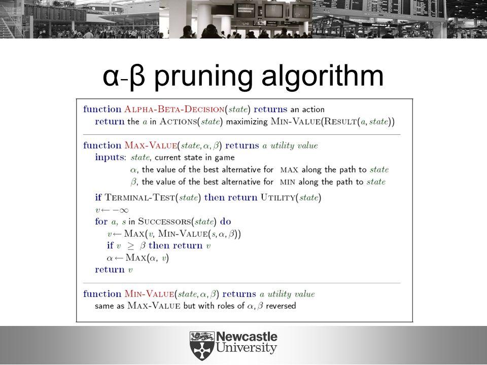 α - β pruning algorithm