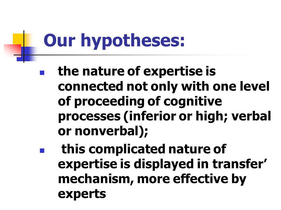 Conclusion Our conception of the phenomenon of VOS' transfer is in conformity with the ideas of a number of psychologists (Dunker, Bartlett, Neisser) about the role of the past experience in cognition.