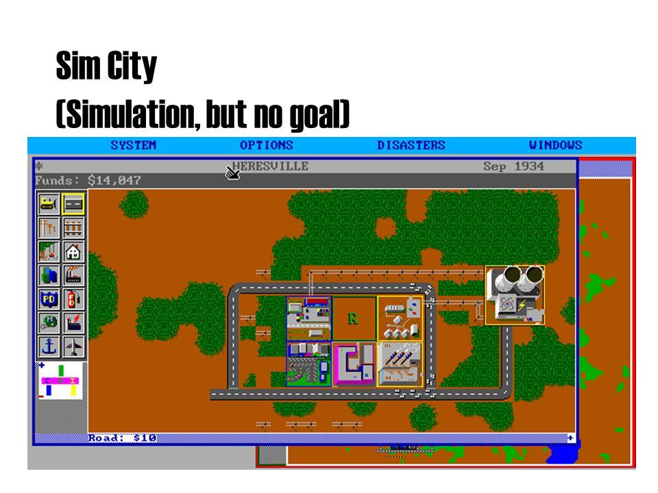 Sim City (Simulation, but no goal)