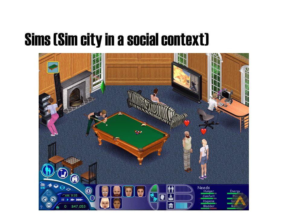 Sims (Sim city in a social context)