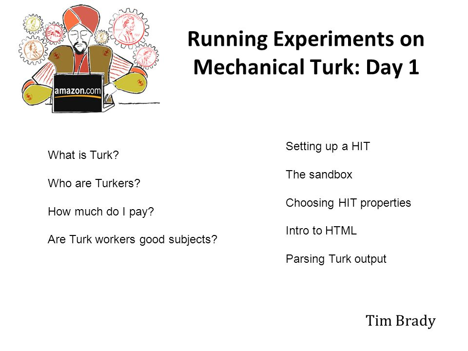 60% make less than $5/week from Turk and spend less than 15 hours a week working on it.