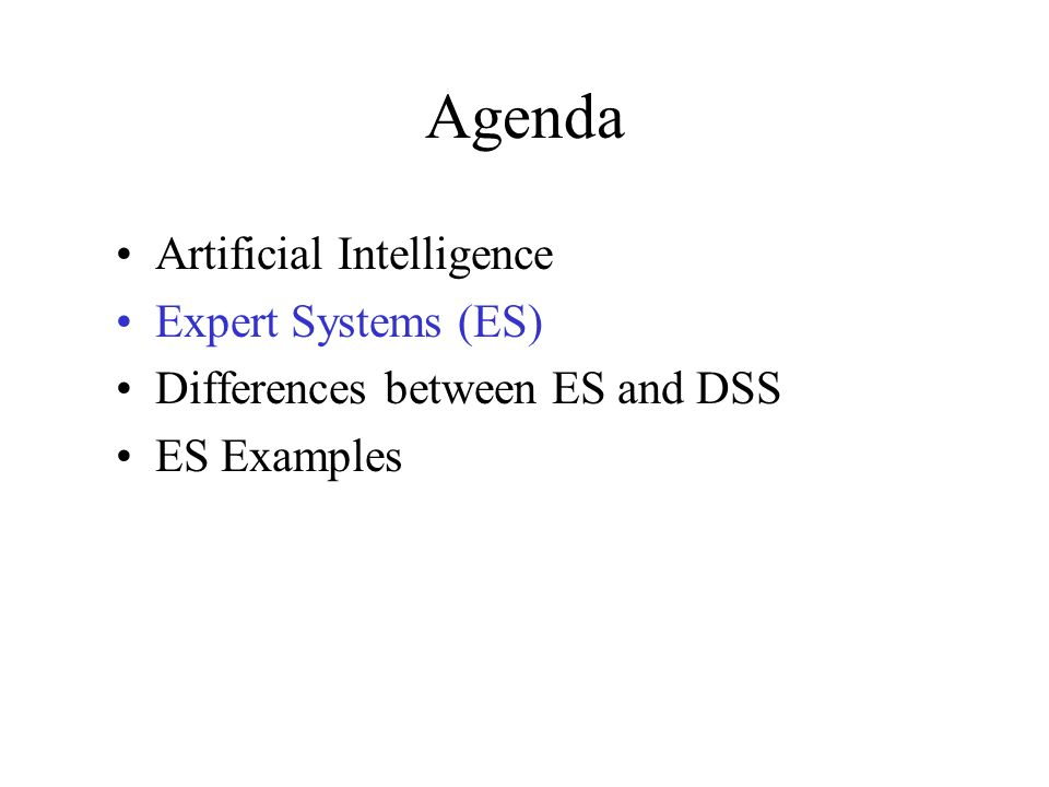 ES Feigenbaum intelligent computer program using knowledge / inference procedures to solve problems difficult enough to require significant human expertise; a model of the expertise of the best practitioners