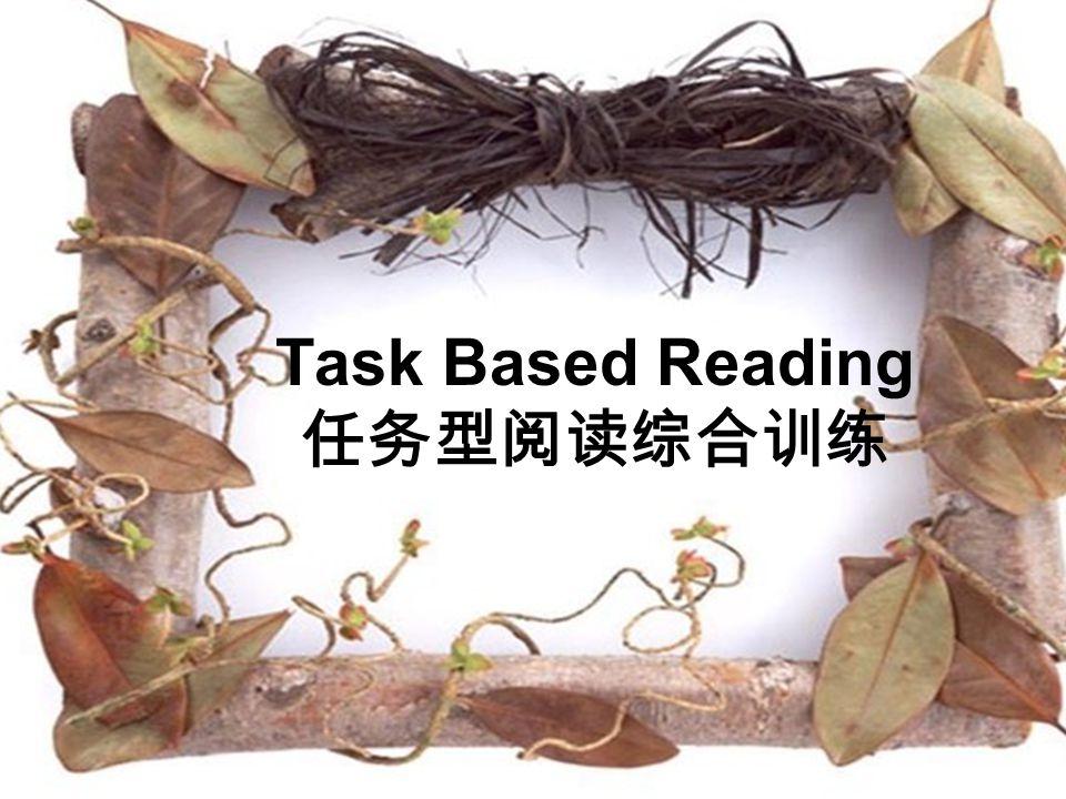 Task Based Reading 任务型阅读综合训练
