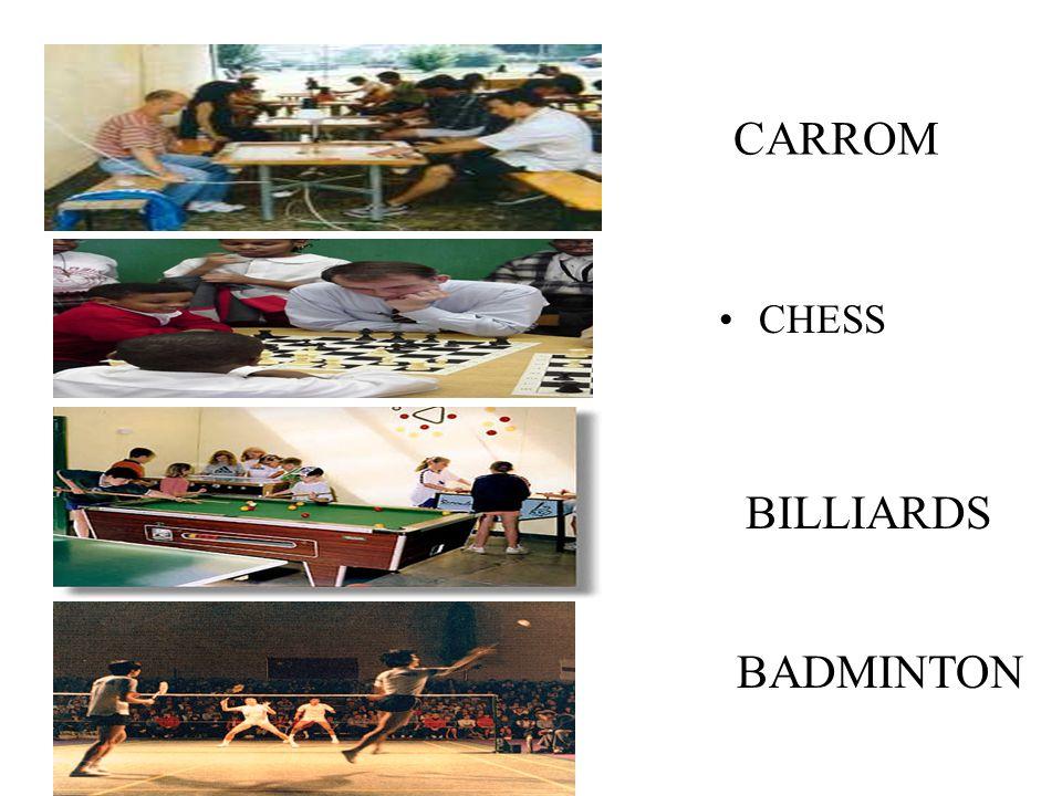 CARROM CHESS BILLIARDS TT BADMINTON