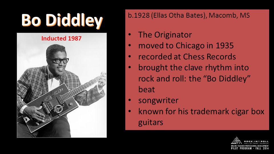 THE BO DIDDLEY BEAT 1 2 3 1 2 clave rhythmic pattern foundation of many Afro-Cuban rhythms