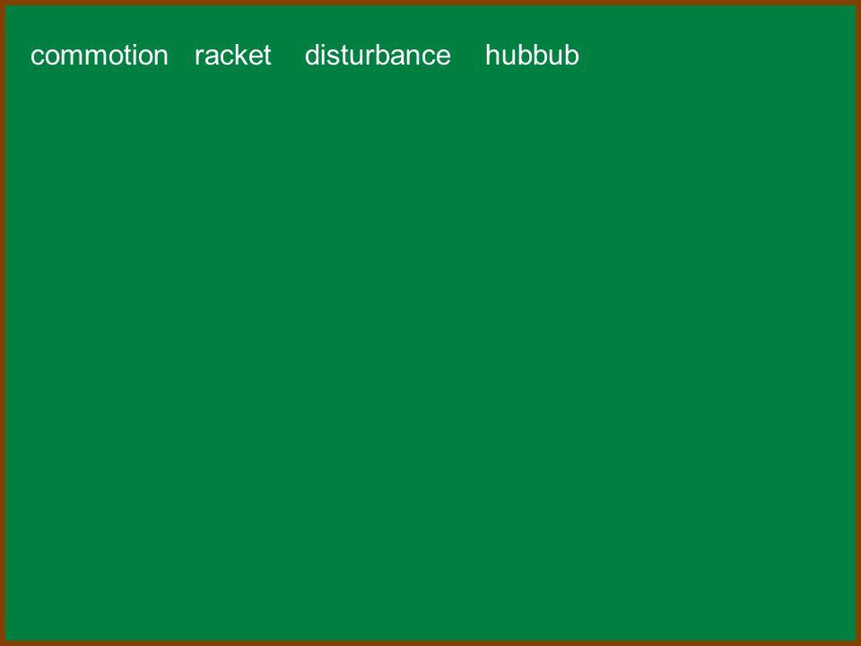 commotion racket disturbance hubbub
