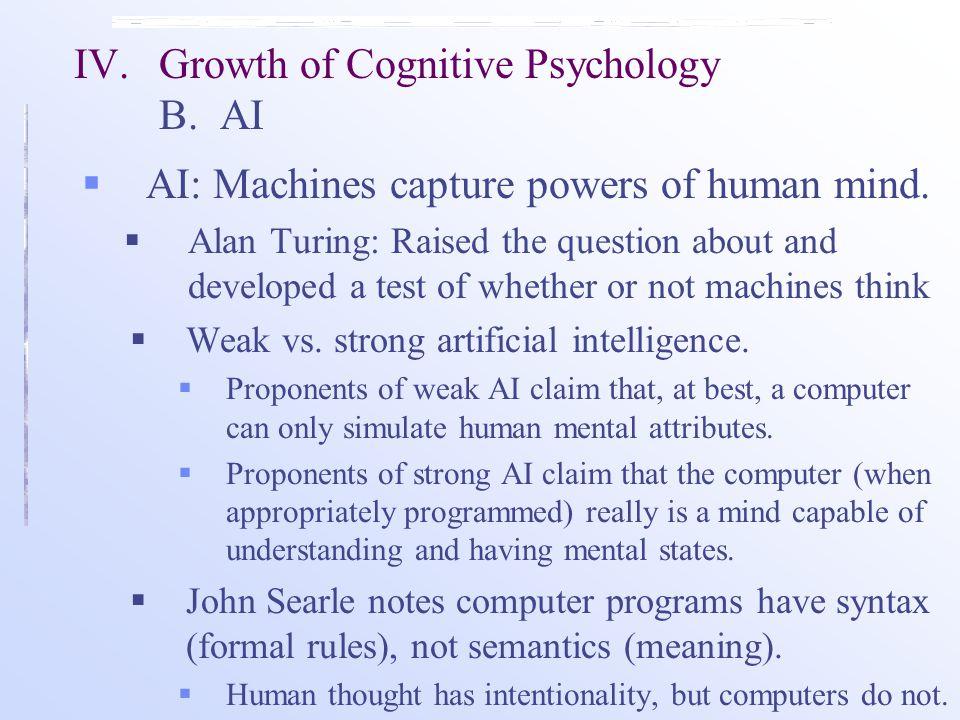  AI: Machines capture powers of human mind.