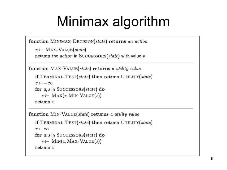 6 Minimax algorithm