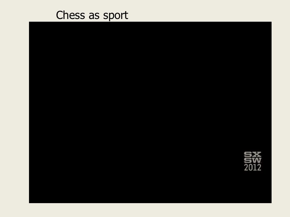 Chess as sport