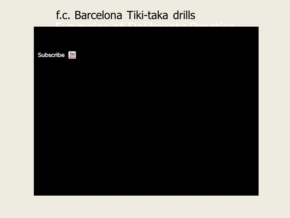 Examples of Deliberate Practice f.c. Barcelona Tiki-taka drills