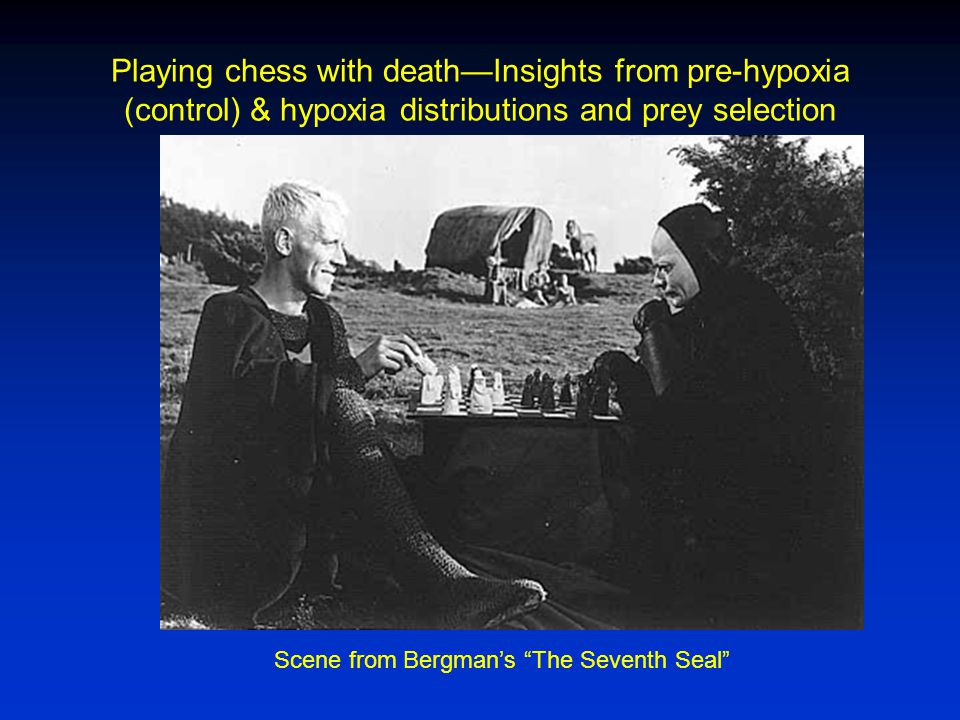 Playing chess with death—Insights from pre-hypoxia (control) & hypoxia distributions and prey selection Scene from Bergman's The Seventh Seal