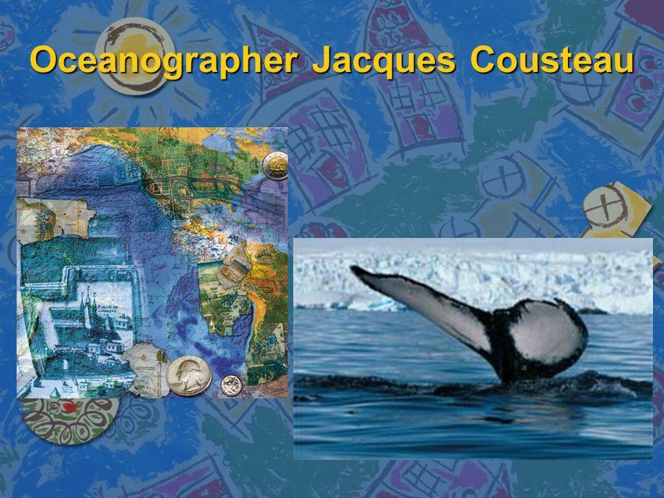 Oceanographer Jacques Cousteau