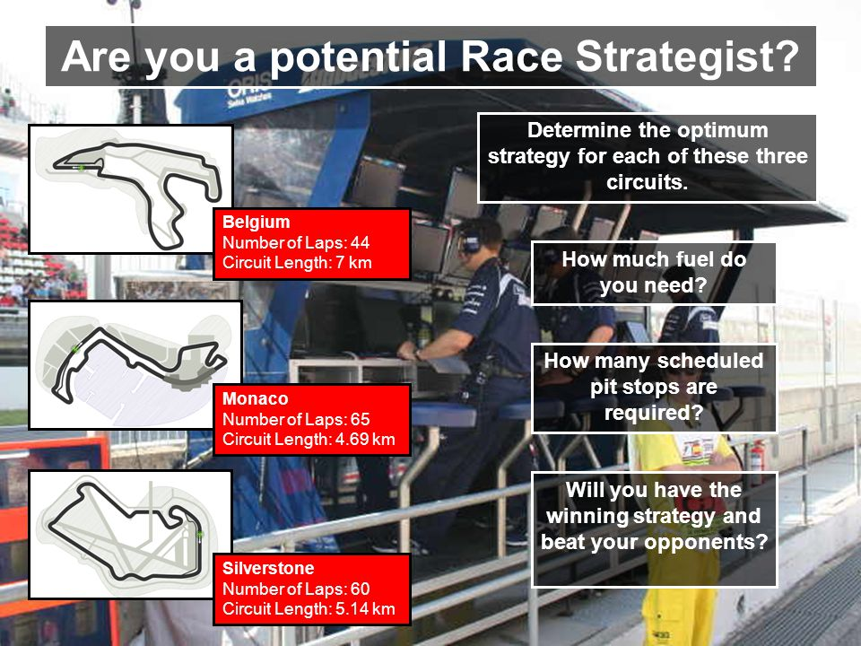 Are you a potential Race Strategist.