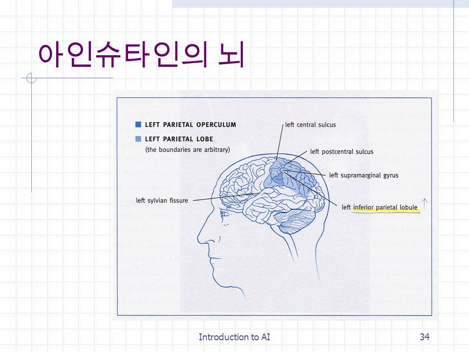 Introduction to AI33 유전자의 영향 IQ ( 어머니와 아들 ) 모성애 ( 아버지와 딸 (NAST)) 3 번 exon(long) : 창조성, 탐구성, 스릴 추구 3 번 exon(short) : 완고, 융통성 결여 D4 장애 : 정신분열병 도파민 D4 수용체 (11 번 염색체 )