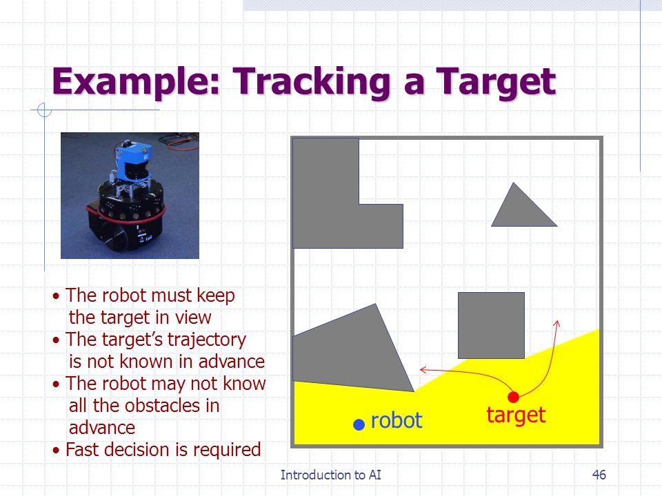 Introduction to AI45 단순화한 인공지능 문제 에이전트의 조건 성공을 평가한 판단기준 환경 또는 응용영역에 대한 사전지식 Agent 가 행할 수 있는 행위 현재까지 한 행위와 결과에 대한 인식 문제의 어려움 Fully observable vs.