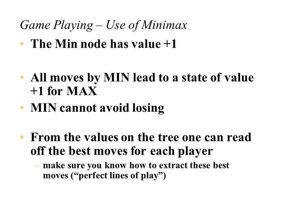7 6-15-24-3 5-1-14-2-13-2-23-3-1 4-1-1-13-2-1-12-2-2-1 3-1-1-1-12-2-1-1-1 2-1-1-1-1-1 MIN MAX 0 (loss for MAX) 1 0 0 0 1 0101 111 1