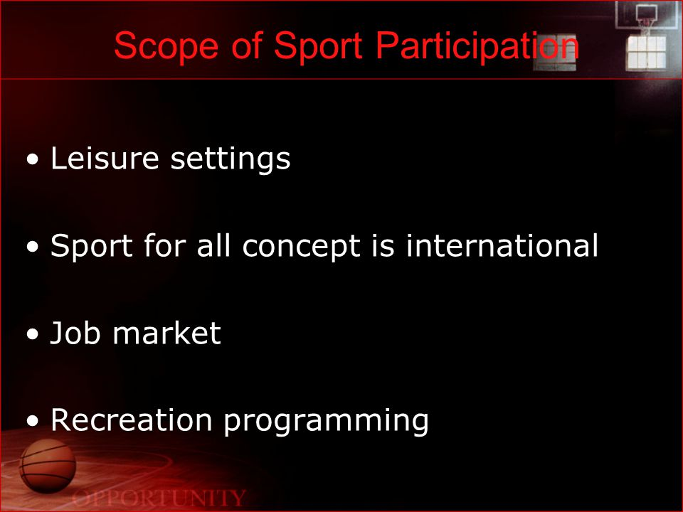 Sport as a Leisure Experience What is leisure.