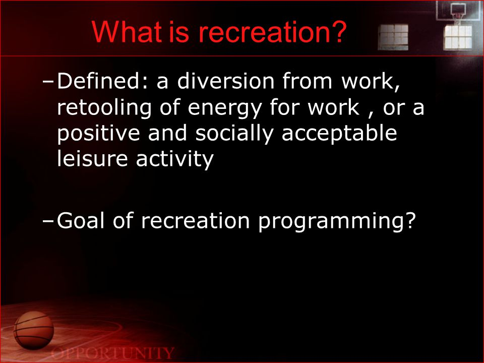 What is Recreational Sport Programming?