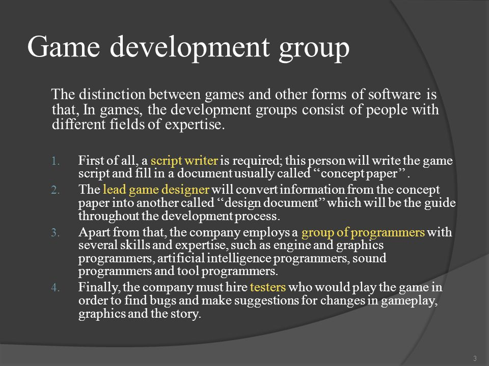Game architecture  One of the most interesting aspects of game research is the architecture that the developer will use.