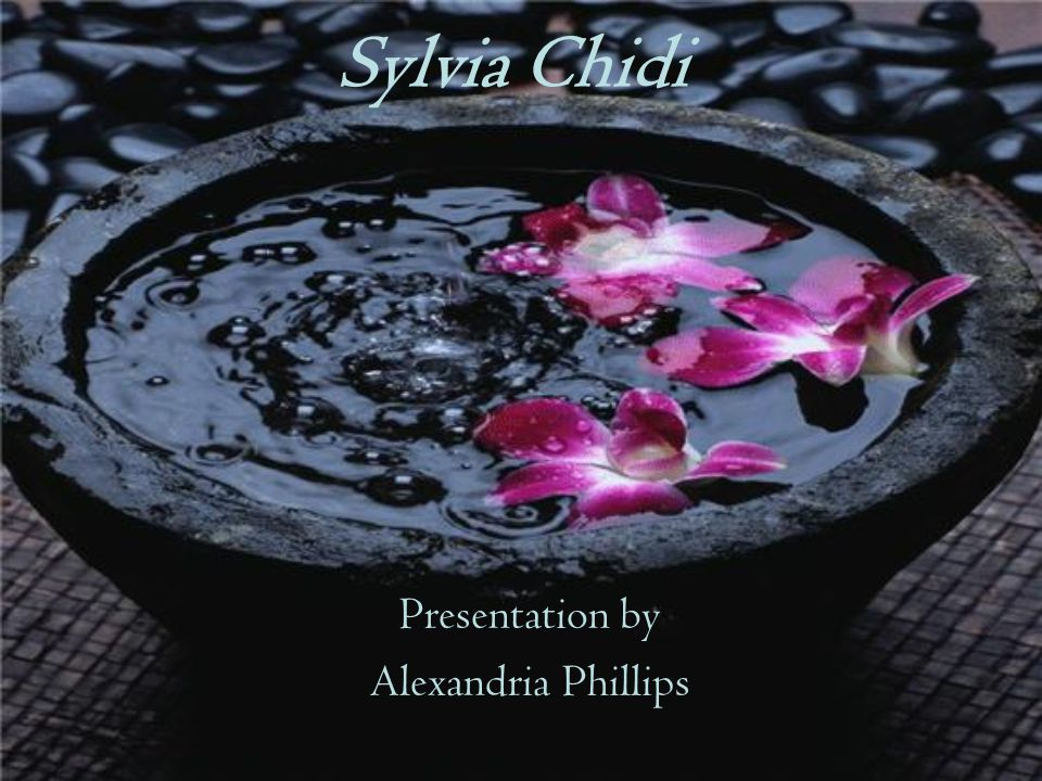 Sylvia Chidi Presentation by Alexandria Phillips