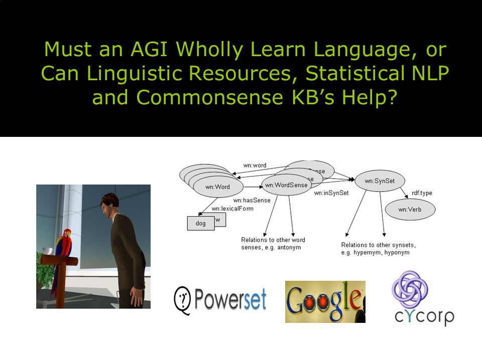 Must an AGI Wholly Learn Language, or Can Linguistic Resources, Statistical NLP and Commonsense KB's Help