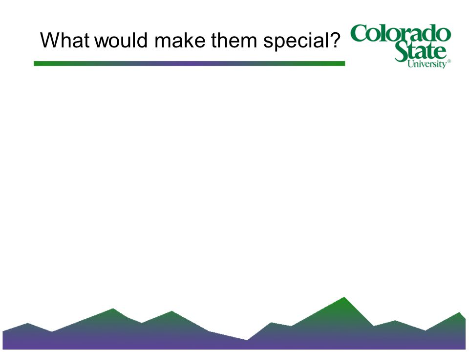What would make them special