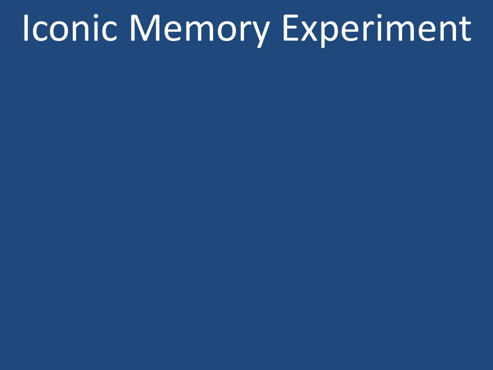Iconic Memory Experiment