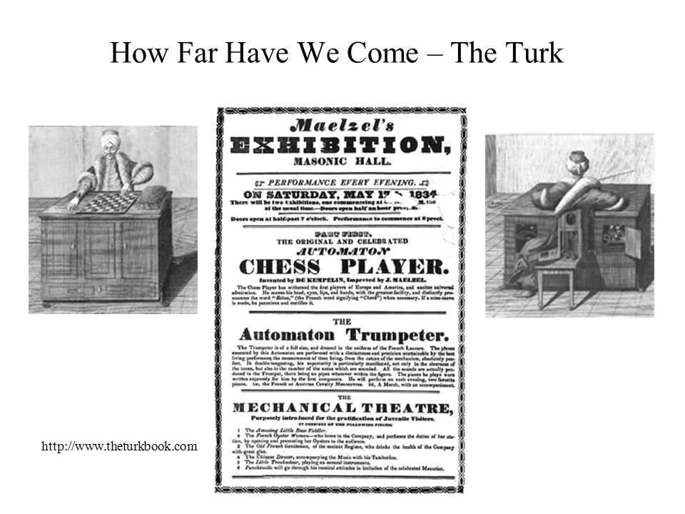 How Far Have We Come – The Turk http://www.theturkbook.com
