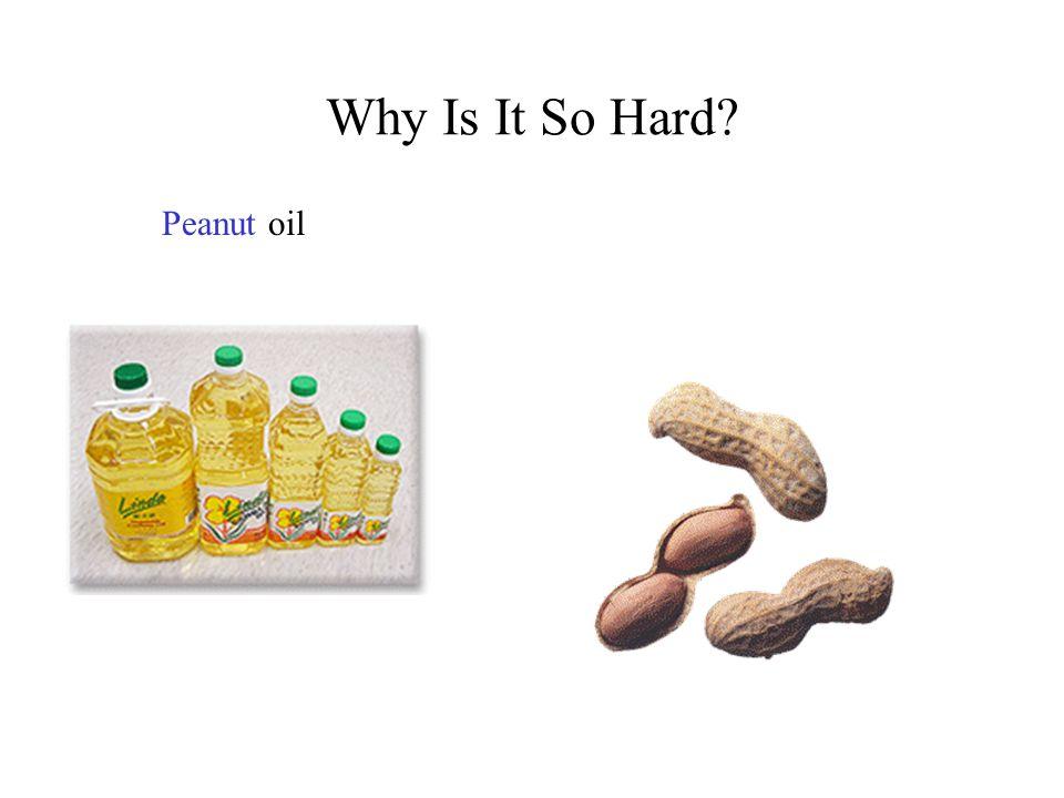 Why Is It So Hard? Peanutoil