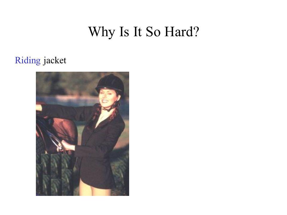 Why Is It So Hard? Ridingjacket