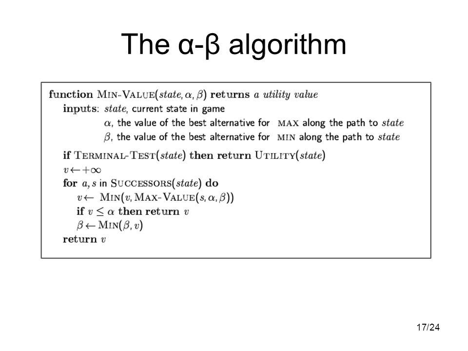1724/ The α-β algorithm