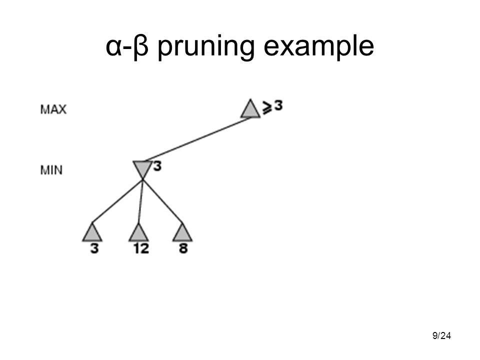 924/ α-β pruning example