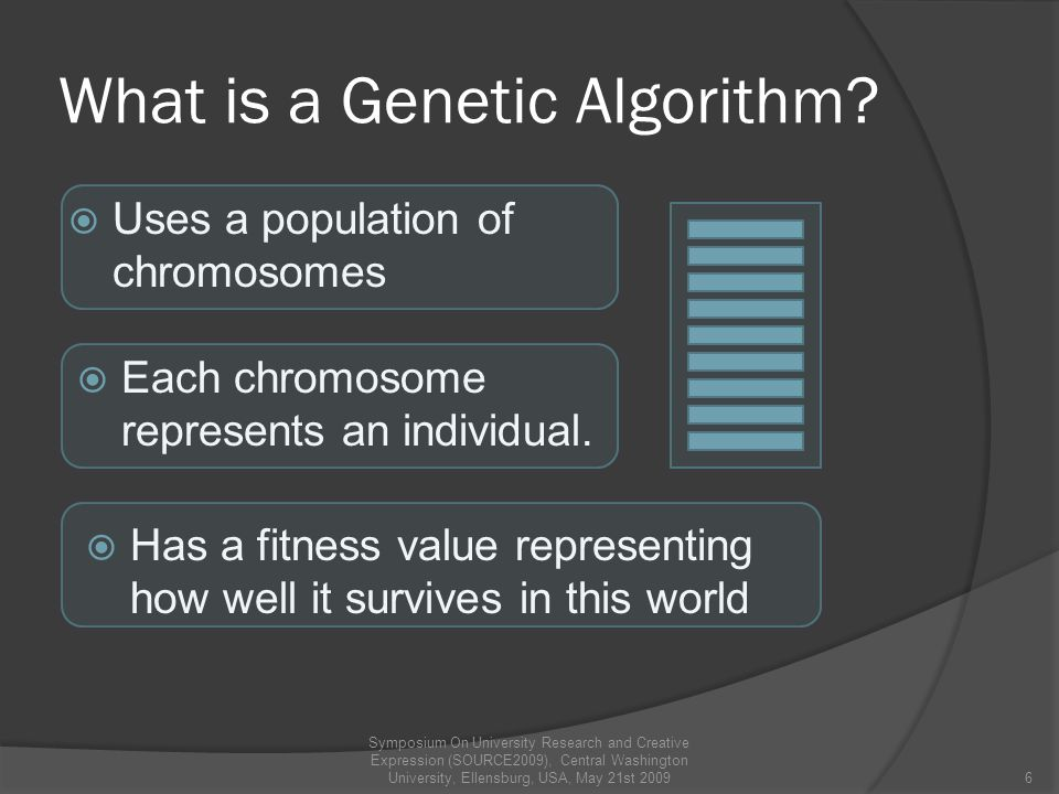What is a Genetic Algorithm.