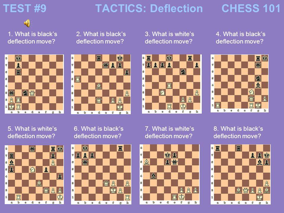 #9 answersCHESS 101TACTICS: Deflection 1.…Q x a2+ 2.
