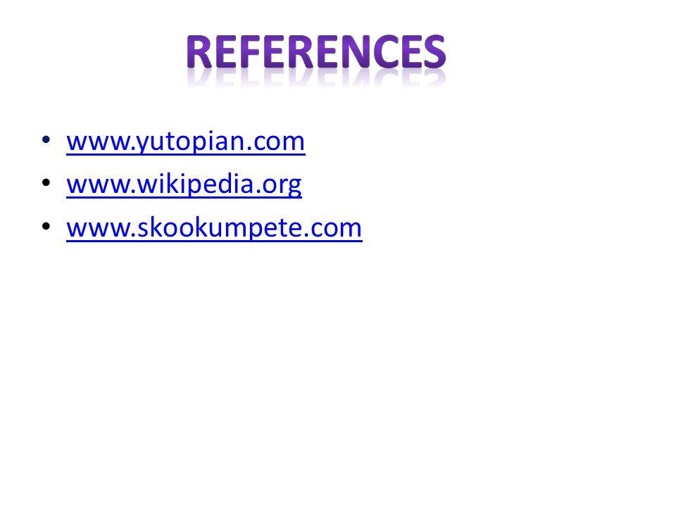 www.yutopian.com www.wikipedia.org www.skookumpete.com