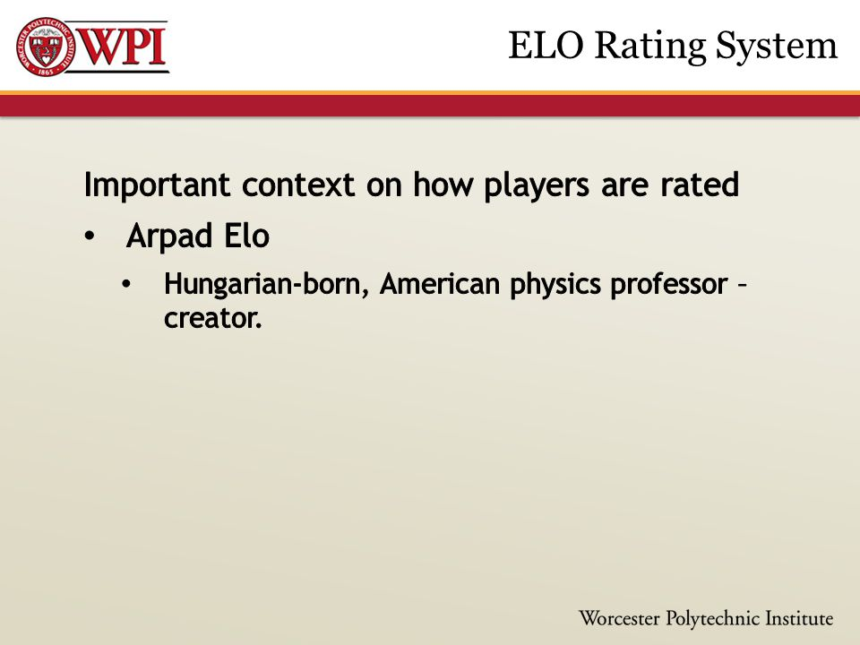 ELO Rating System
