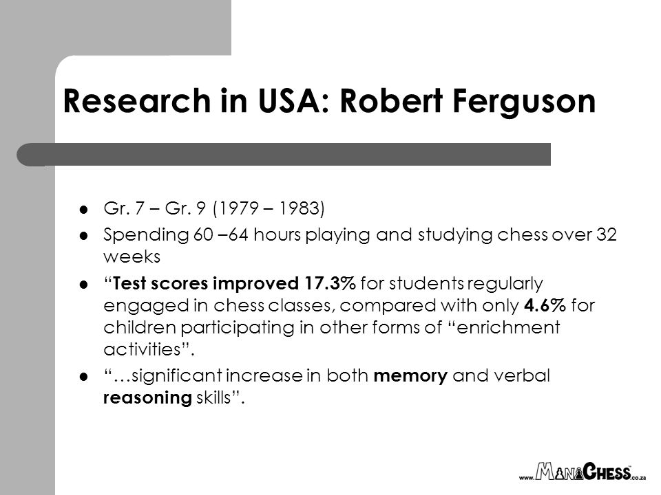 Research in USA: Robert Ferguson Gr. 7 – Gr.