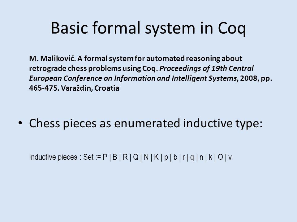 Basic formal system in Coq M. Maliković.