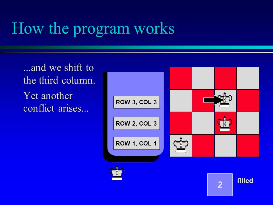 How the program works...and we shift to the third column.