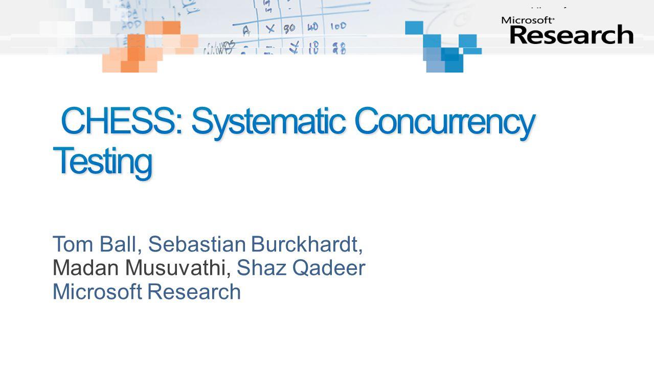 Tom Ball, Sebastian Burckhardt, Madan Musuvathi, Shaz Qadeer Microsoft Research