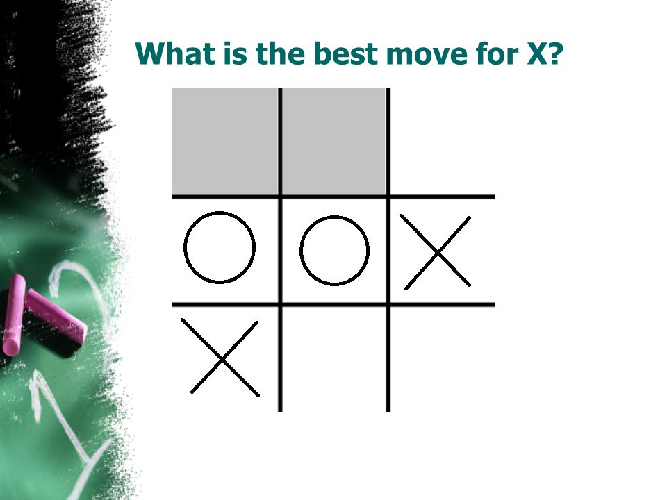 What is the best move for X?