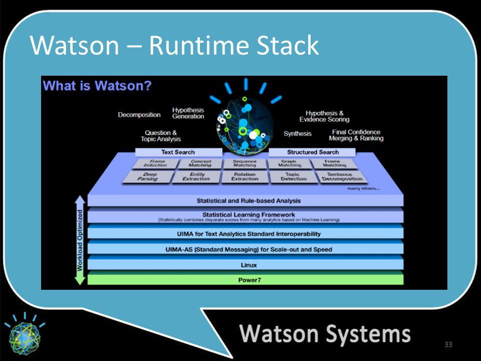 Watson – Runtime Stack 33